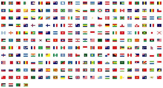 elenco delle bandiere del mondo